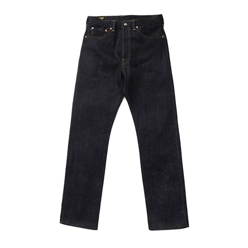 BOB DONG 28 onças Selvedge Denim Jeans Para Homens Heavyweight Slim Fit Reta