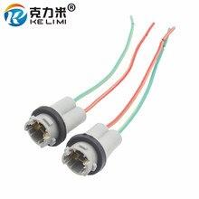 KELIMI 2x T10 W5W автомобильный маленький светодиодный светильник, лампочка, клинообразный жесткий Адаптер, Разъем t10, автомобильный держатель лампы, адаптеры
