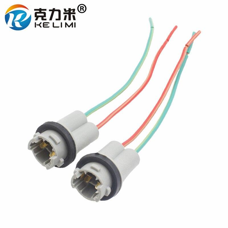 KE LI MI 2x T10 W5W Automobile Small LED Light Bulb Plug Wedge Hard Adaptor Socket Connector T10 Car Lamp Holder Adapters Base