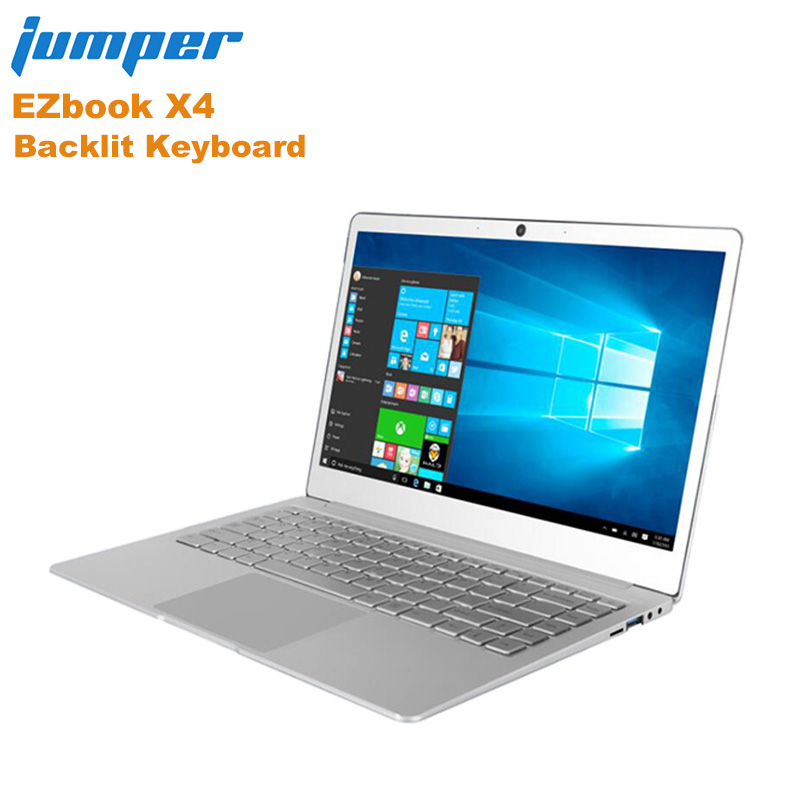 "New Jumper EZbook X4 Notebook Backlit Keyboard 14.0"" Windows 10 Home Version Intel Apollo Lake J3455 Quad Core 6GB+128GB Laptop"