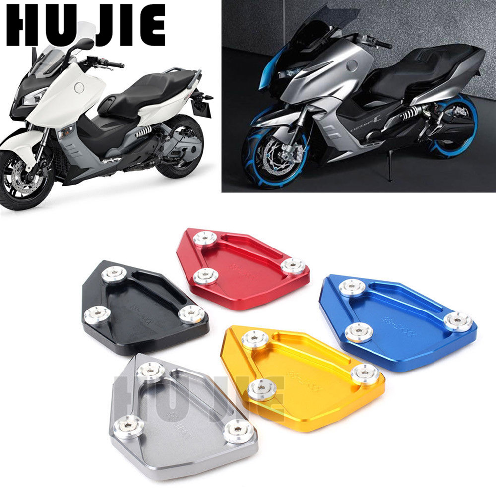 Black For BMW C650GT C650 GT C600 Sport 2012 2013 2014 2015 Motorcycle Kickstand Foot Side Stand Extension Pad Support Plate