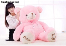 stuffed plush toy cute teddy bear toy biggest 160cm pink bear doll hugging pillow,Christmas gift h0637