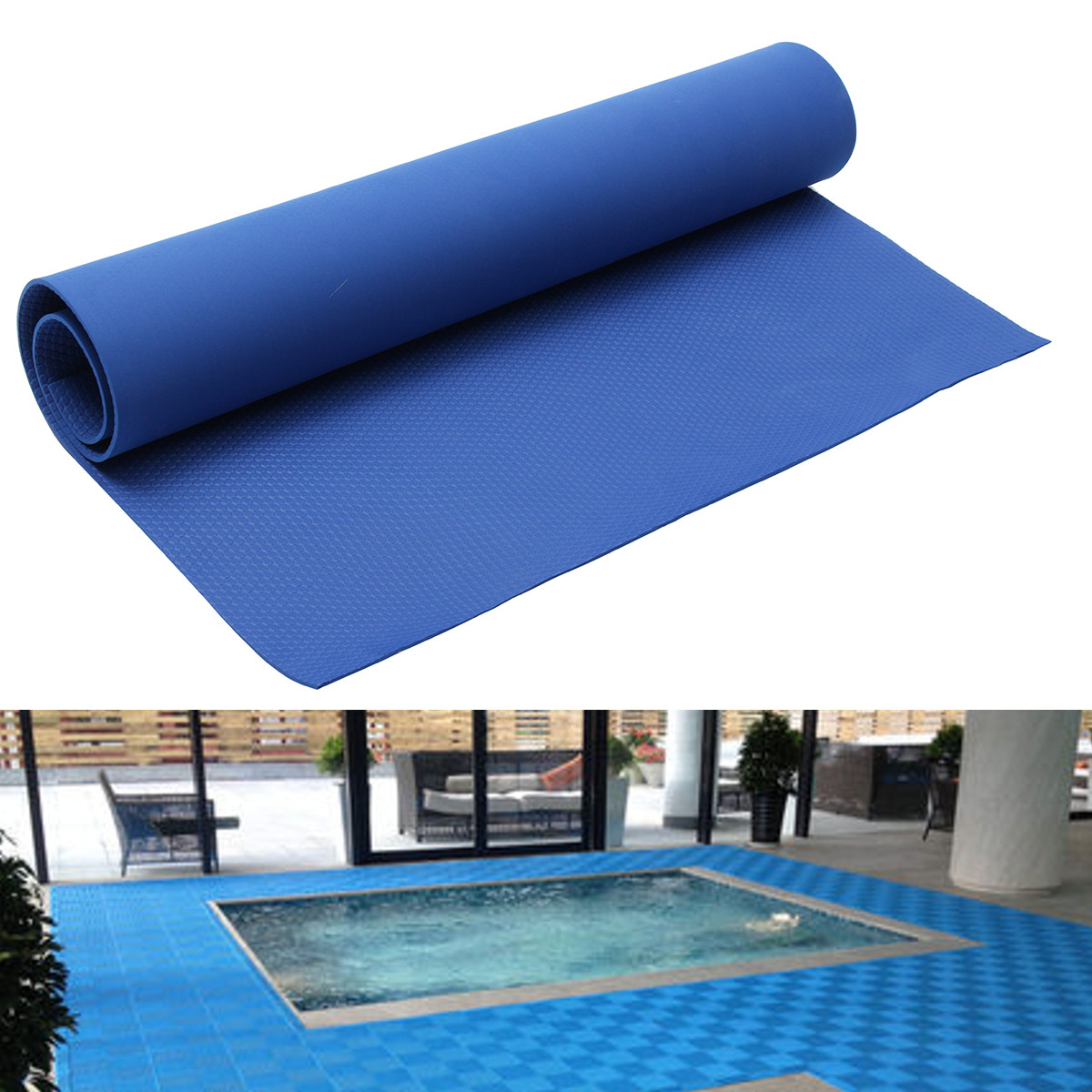 Blue Above Ground Swimming Pool Hydro Tools Ladder Step Anti-skid Pad Mat Liner Non-Slip Protection Pool Accessories 4 Sizes