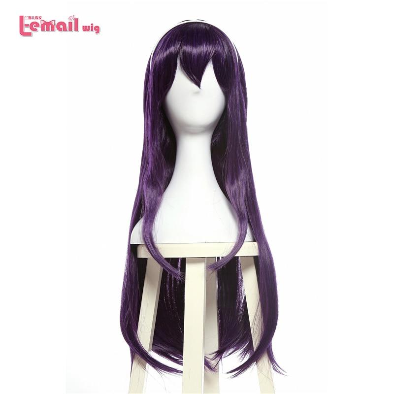 L-email Wig Saenai Heroine No Sodateka Utaha Kasumigaoka Cosplay Wigs Long Dark Purple Synthetic Hair Perucas Cosplay Wig