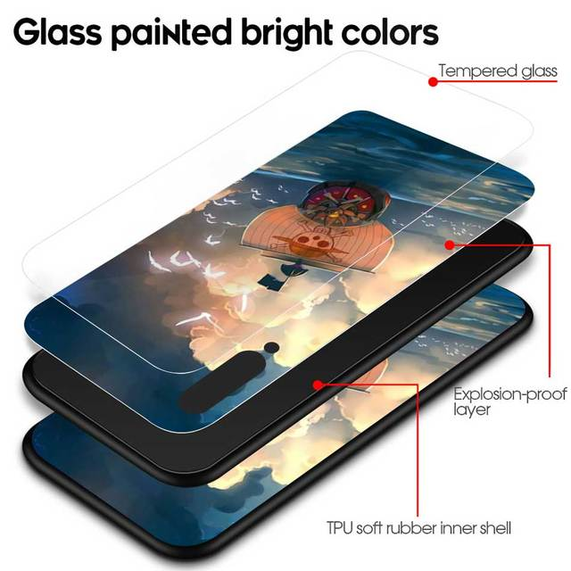 One Piece Luffy Tempered Glass Case Cover for Xiaomi Redmi Phones