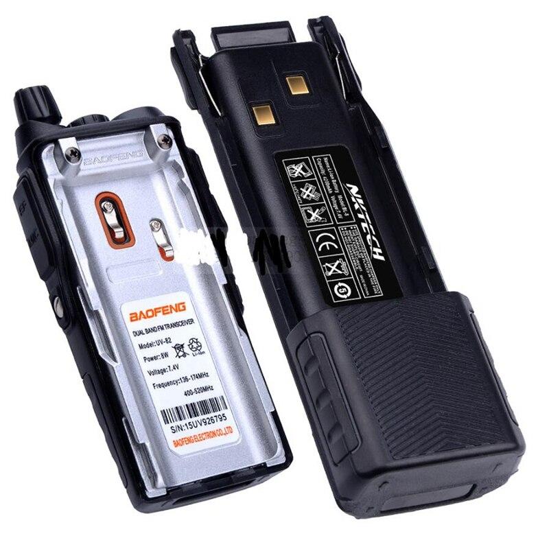 2pcs Portable Radio Baofeng UV-82 2800mAh & 3800mAh recharger battery for two way radio uv 82 walkie talkie li-ion battery