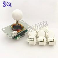 New Original Sanwa JLF TP 8YT 5Pin Sticker + 8 OBSF 30 Push Buttons for Arcade Joystick DIY Kits Parts