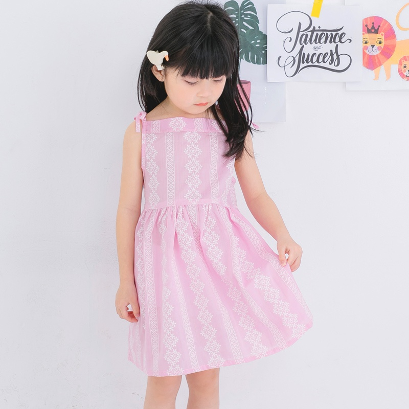 Summer Baby Girl's Pink Lovely Dresses Casual Floral A-Line Sleeveless Mini Dress For Girl 0-5Y комплект аксессуаров для волос lovely floral
