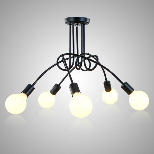 Vintage Ceiling Lights Ceiling Lighting Black Creative Personality Ceiling Lamps Fixtures Living Room Luminaria Lustre