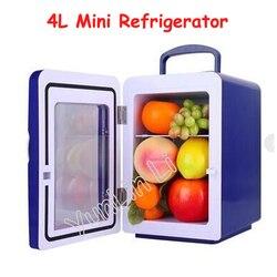 Mini refrigerador 4L de doble uso refrigerador frío y caliente pequeño compacto para el hogar y el vehículo refrigerador CW8-4L