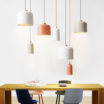 Nordic LED Pendant Lights Colorful Modern Wooden Pendant Lamp Creative Hanglamp Fixtures For Home Lightings Lamparas Colgantes colorful iron geometry pendant light nordic modern creative hanglamp fixtures for home lighting bar cafe lamparas colgantes