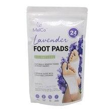 24 шт = 1 пакетов/лот Лавандовые подушечки для ног улучшают сон клей для очищения ног