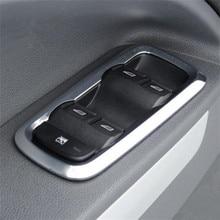 4ピース/セット窓リフトスイッチステッカーインテリアドアボタンフォードフィエスタ3/ecosport/mk7装飾アクセサリー