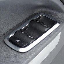 Adesivo interruptor de elevador de janela 4/pçs/set, cobertura de guarnição de botão de porta interior para decoração ford fiesta 3/ecosport/mk7 acessórios