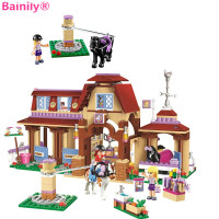 Bainily 594pcs Girl Series Heartlake Riding Club Model Building Block Bricks Toy For Children Compatible