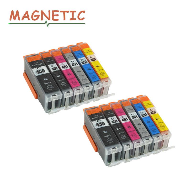 Printer Inkt 12X PGI450 CLI451 Inkt Cartridge voor Canon pgi450 cli451 PIXMA IP7240 MG5440 MG5540 MG6440 MG6640 MG5640 MX924 MX724