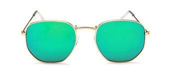 2021 Vintage Metal Women Sunglasses Luxury Brand Design Glasses Female Classic Driving Eyewear uv400 Oculos De Sol Masculino - C3