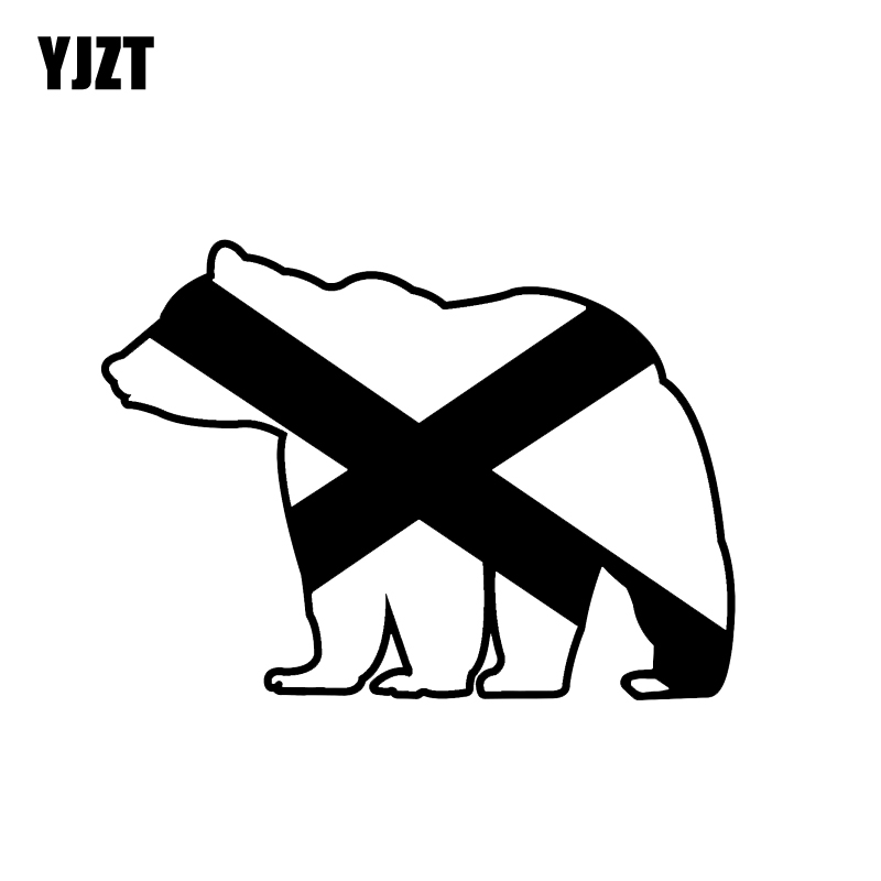 Exterior Accessories Car Stickers Strong-Willed Yjzt 13*9.5cm Bear Flag Vinyl Outdoors Wilderness Danger Graphic Motorcycle Car Sticker Decor C12-0419 Durable Service