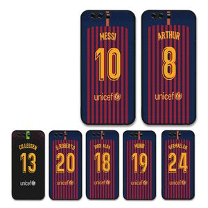 European Football Soccer Messi Jersey Barcelona black case For HUAWEI P10 lite P20 P30 nova 2 PLUS mate 8 9 10 20 Phone Cases