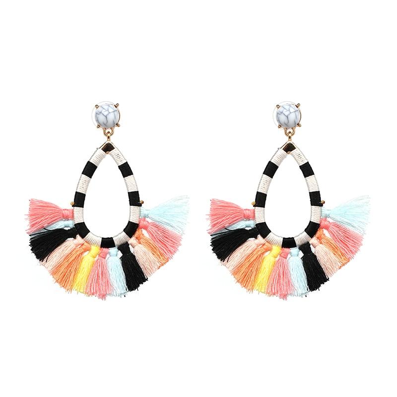 New Fashion Jewelry Etnik Bohemia Multi-warna Tassel Dangle Drop - Perhiasan fesyen - Foto 4