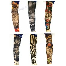 Lot 6 Pcs Fashion Style Temporary Fake Slip On Tattoo Arm Sleeves Kit Colletion Halloween Make Up Body Art
