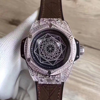 The New 2018 WISH Selling Empty Marble British Fashion Belt Drill Steel Shell Watch High Quality