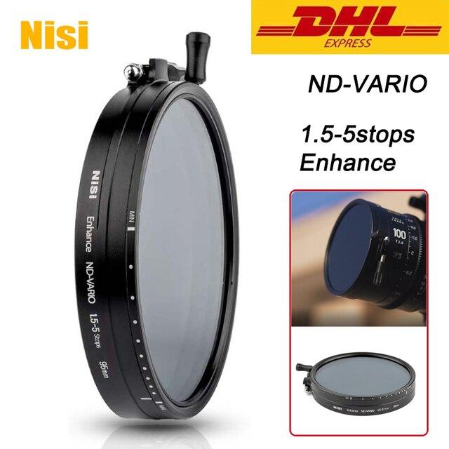 NISI ND VARIO 1.5 5 pára 95 Reforçada 110 114 milímetros Lente Da Câmera Filtro Para Vídeo e Fotografia 95mm 110 114 milímetros 1.5 milímetros 5 pára Filtro