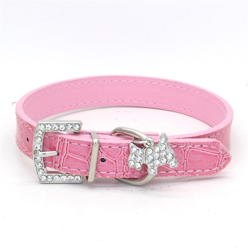 1PCS Crystal Pendant Pet Dog Collar Puppy Cat Pet Buckle Dogs Leads Neck Strap Animal Pet Accessories Dog Leash and Harnesses