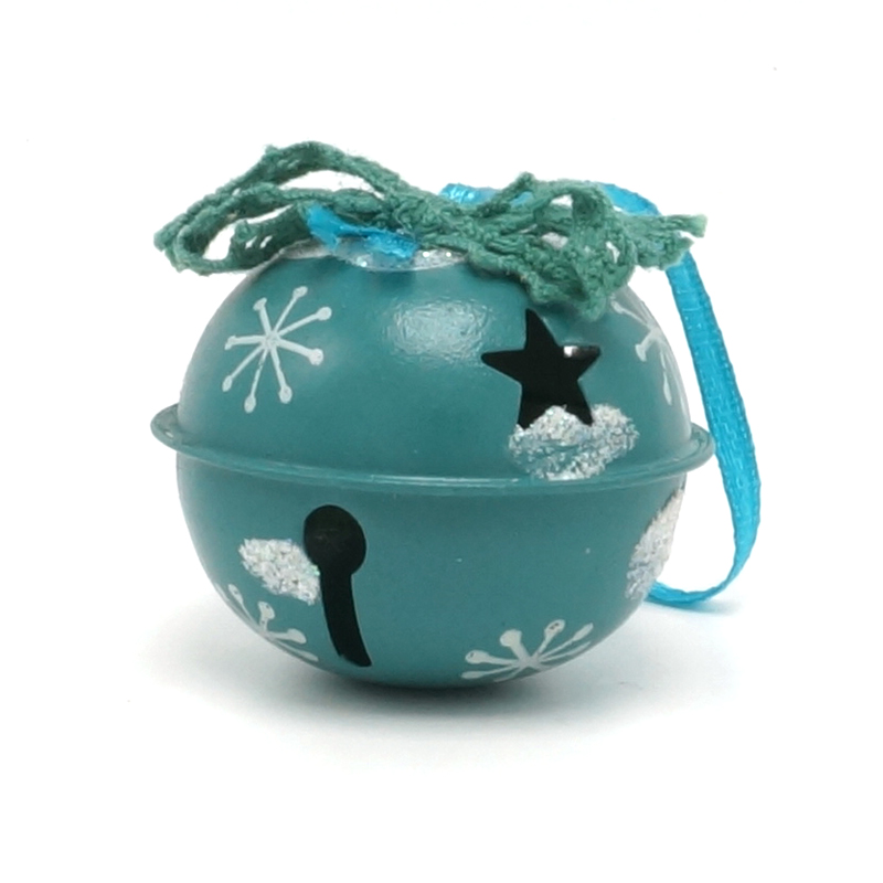 Decoración navideña 6 pcs metal azul brillante Jingle Bells 50 mm - Para fiestas y celebraciones - foto 6