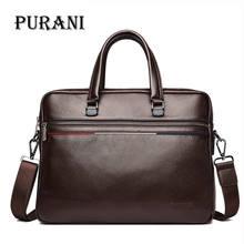 hot deal buy purani genuine leather men bag handbags briefcases shoulder bags laptop tote bag men crossbody messenger bags handbags designer