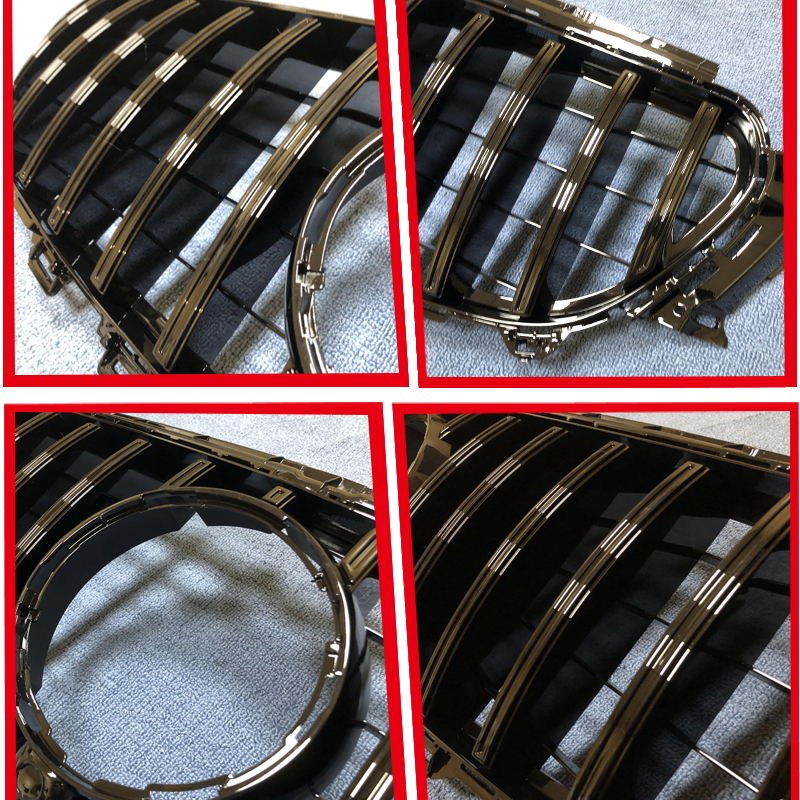 For Benz W213 Sport Grille Grill GTS Style ABS Gloss Black With camera W Badge E Class E200 E250 E350 E400 E500 look grills 16 in Racing Grills from Automobiles Motorcycles