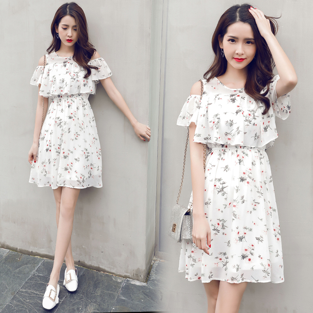2018 Summer S Fl Chiffon Dresses Age 15 17 Years Old White Children Clothing