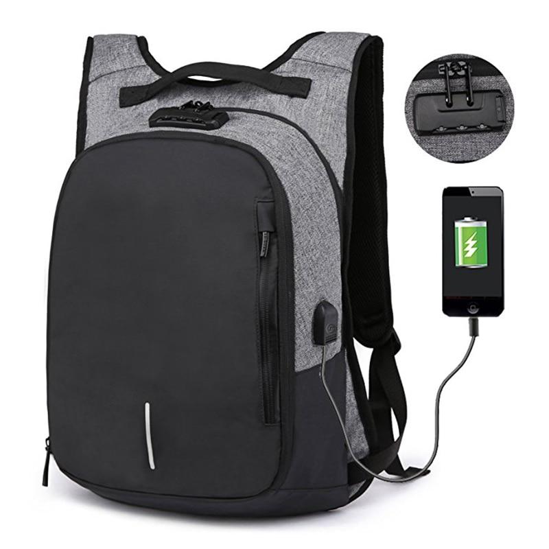 2019 Mode Codiert Lock Anti Diebstahl Laptop Rucksack Wasserdichte Nylon Tablet Tasche Für Reise Business Beste Verkauf-wt