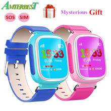 AMTERBEST Q80 GPS Smart Watch with SIM Card Slot SOS Tracker Kids Safety Anti Lost Baby Wristwatch for Children Kids Boys Girls(China)