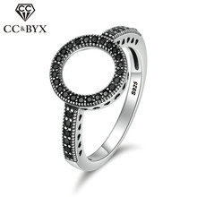CC Простые Кольца для женщин классические ювелирные изделия кубический цирконий круглый камень Halo Кольцо Свадебные Bijoux Femme Прямая CC2252