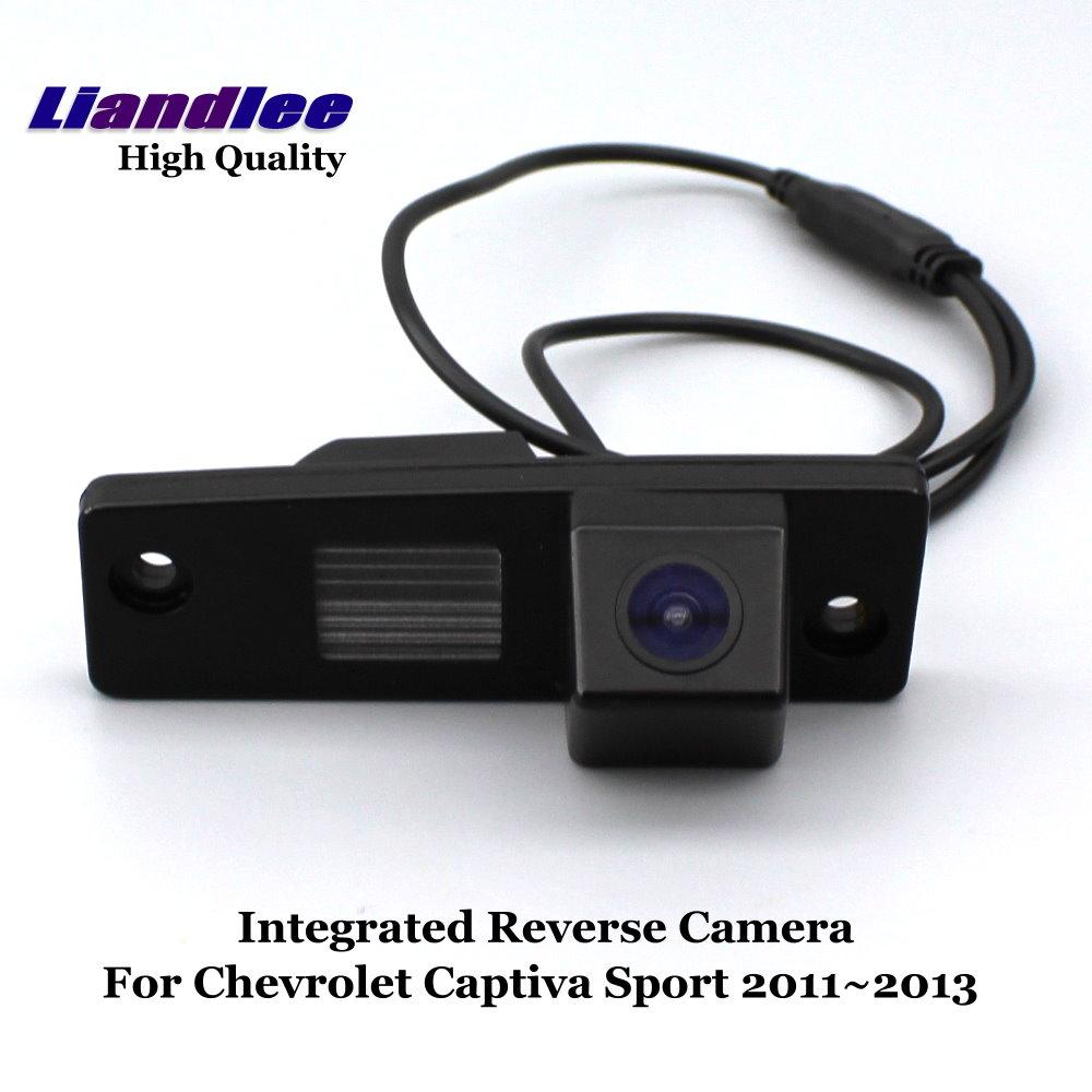 Liandlee Para Chevrolet Captiva Esporte 2011 ~ 2013 Carro Retrovisor Câmera Reversa Vista Traseira Backup Estacionamento Camera/Nigh Visão