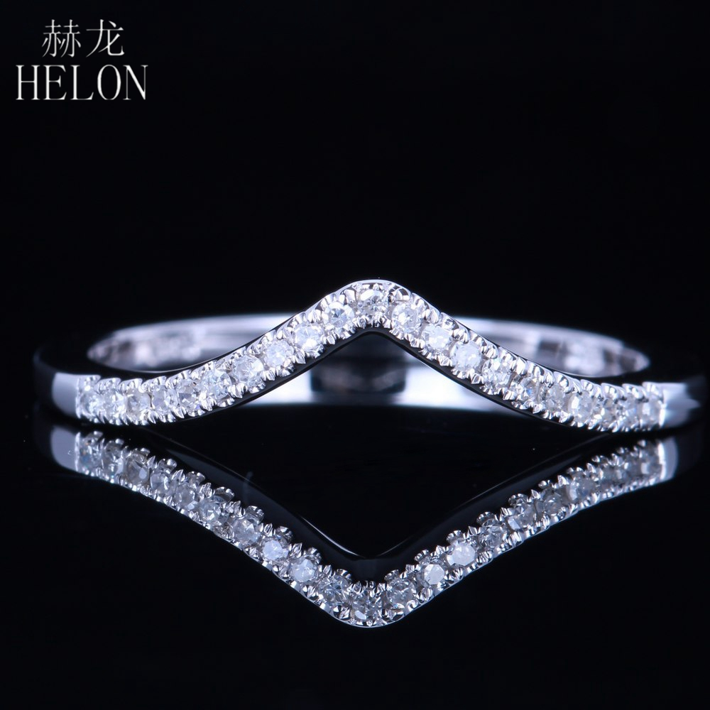 все цены на HELON Diamonds Band Solid 14K White Gold Pave Natural Diamonds Anniversary Wedding Women's Fine Jewelry Ring