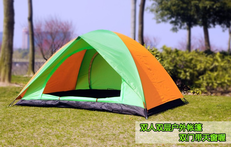 Mountain Climbing Hiking Waterproof Outdoor Camping Tent Double Open The Door With Skylight Camping Tents Sy006-1