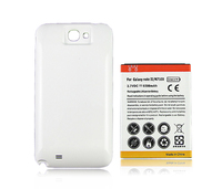 Phone Replacement Extended 6500mAh Battery White Back Cover For Samsung Galaxy Note 2 II N7100 Free
