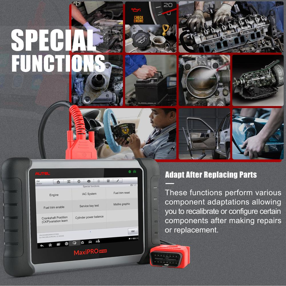 Image 4 - Autel MaxiPRO MP808K Auto Diagnostic auto Tool OBD2 Code Reader Scanner OBD car diagnostic scania automotivo vag com like DS808K-in Engine Analyzer from Automobiles & Motorcycles
