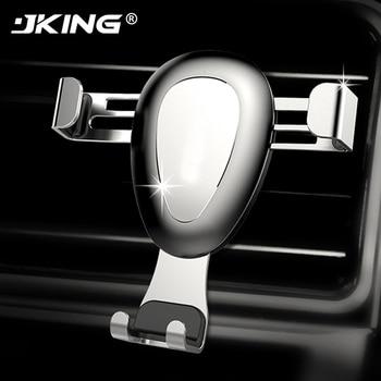 JKING Car Phone Holder Universal 4-6 inch Mobile Phone Holder Car Air Vent Mount For iPhone Samsung Gravity Car Holder Bracket mobile phone car vent holder