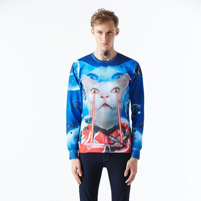 Mr.1991INC Star war hoodies for men 3d sweatshirt funny print Space robot cat Pilot galaxy lovely hoodies pullovers