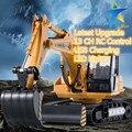 RC Digger Экскаватор Сплава 2.4 Г 13CH Пульт Дистанционного Управления Инженерной Грузовик Модель Электронные Экскаватор Тяжелой Техники Беспроводной Игрушка