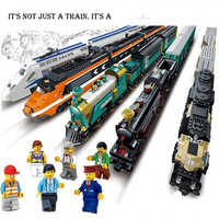 Kazi Battery Powered Maersk Train Container Train Diesel-electric Freight Building Blocks Bricks Toys for Children