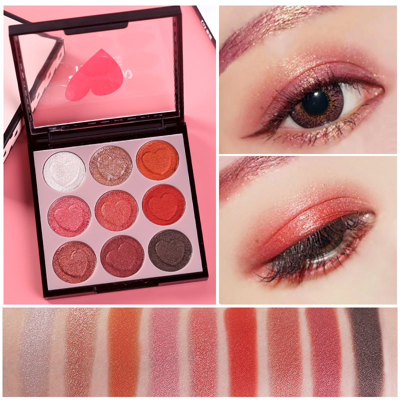 HOLD LIVE 9 Colors Professional Shimmer Matte Eye Shadow Pigment Eyeshadow Palette Glitter Eyes Makeup Shadows Make Up Kit Set 9 full colors shimmer matte eye shadow palette pigment glitter eyeshadow palettes nude shadows cosmetics korean makeup eyes