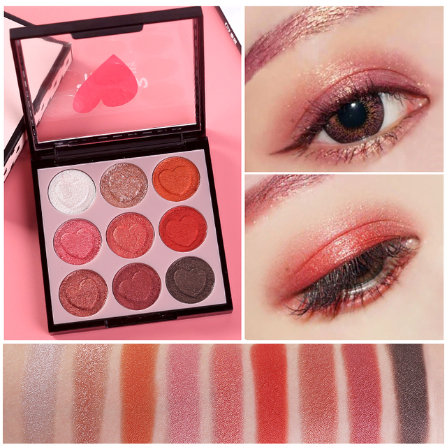 HOLD LIVE 9 Colors Professional Shimmer Matte Eye Shadow Pigment Eyeshadow  Palette Glitter Eyes Makeup Shadows Make Up Kit Set-in Eye Shadow from  Beauty ... 4c7969bb6eec
