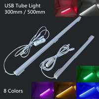 Bombillas LED USB tubos de alta luminosidad 30 leds 18 Leds SMD2835 lámpara para lectura nocturna portátil mini USB LED barra de luz interruptor de encendido/apagado DC5V