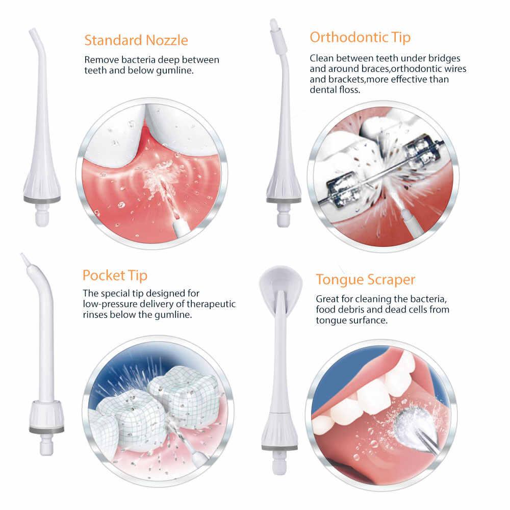 Irygator doustny s dorośli elektryczny irygator do jamy ustnej przenośny flosser irygator wodny indukcyjny akumulator irygator do zębów zęby