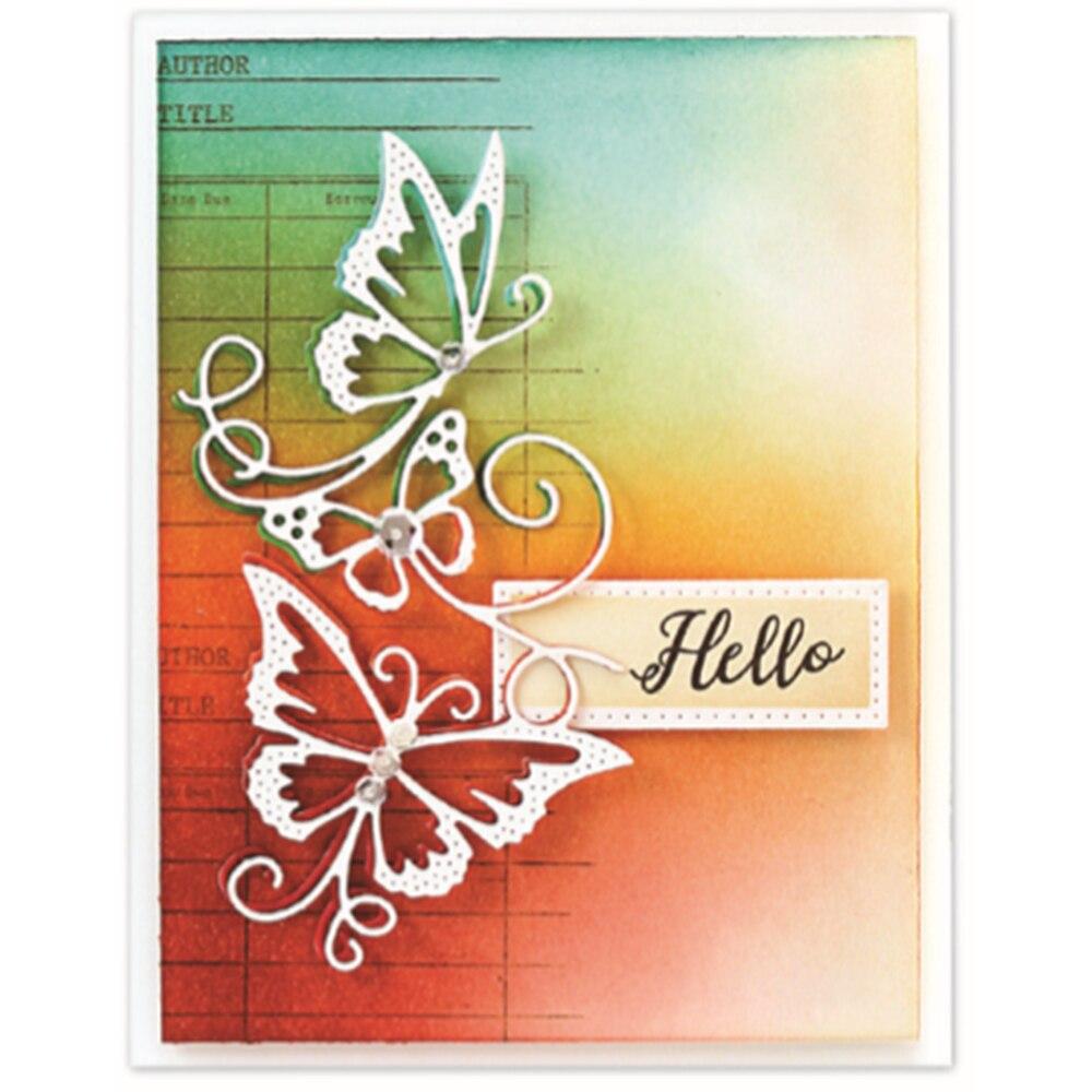 111*59mm Flowing Butterflies Die 2019 Metal Cutting Dies 3D DIY Scrapbooking Stamps Carbon Sharp Craft Die Photo Gift Card Decor