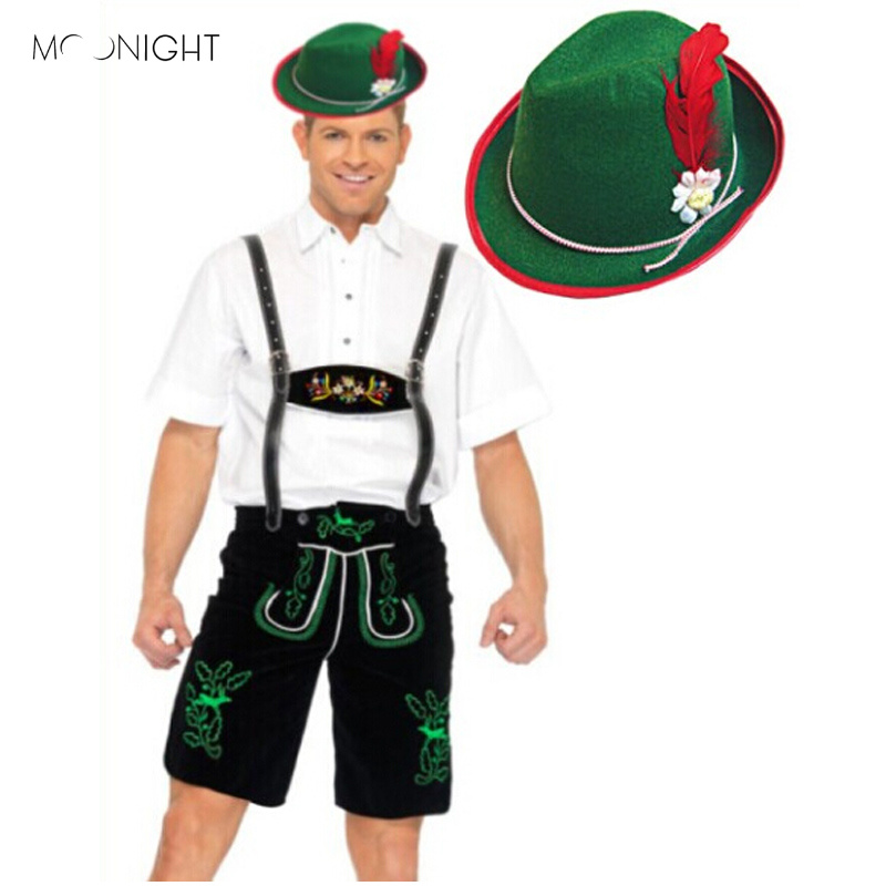 MOONIGHT Oktoberfest Costume Bavarian German Beer Men Festival Beer Cosplay Halloween For Men Beer Carnival Costume Man Rompers